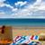 солнечные · ванны · соломы · сумку · пляж - Сток-фото © neirfy
