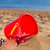 bucket with seshells in sand on sea shore stock photo © neirfy