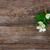 virágok · fa · asztal · friss · levelek · mintázott · fából · készült - stock fotó © neirfy
