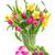 boeket · tulpen · narcissen · vers · roze · paars - stockfoto © neirfy