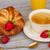 ontbijt · koffie · croissants · foto · gezonde · sinaasappelsap - stockfoto © neirfy