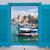 grego · janela · azul · barras · a · casa · branca · Grécia - foto stock © neirfy