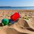 beach toys in sand on sea shore stock photo © neirfy