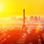 belo · pôr · do · sol · Torre · Eiffel · rio · Paris · França - foto stock © neirfy
