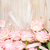 rosa · fioritura · rose · legno · nastro · tavolo · in · legno - foto d'archivio © neirfy