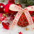 red ball with merry christmas ribbon stock photo © neirfy