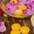 kom · orchideeën · kaars · houten · tafel · orchidee · bloemen - stockfoto © neirfy