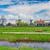 spoorweg · weg · nederlands · platteland · hemel · straat - stockfoto © neirfy
