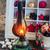karácsony · jelenet · fa · tűz · ajándékok · otthon - stock fotó © neirfy