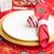 christmas · houten · tafel · feestelijk · tafelgerei · tabel · bureau - stockfoto © neirfy