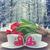 día · de · san · valentín · corazón · cookies · café · tarjeta · de · felicitación · taza · de · café - foto stock © neirfy