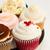 rosa · aniversário · bolo · suporte - foto stock © neirfy