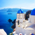 vista · escaleras · iglesia · santorini · azul · cúpula - foto stock © neirfy