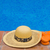 straw hat and sandals by pool side stock photo © neirfy