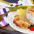 servido · ternera · placa · cuchillo · tenedor · cena - foto stock © neirfy