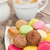 plate of macaroons with coffee stock photo © neirfy