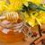 банку · меда · Полевые · цветы · старые · деревянный · стол · цветок - Сток-фото © neirfy
