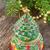 Natale · evergreen · albero · decorazione · tavolo · in · legno · vetro - foto d'archivio © neirfy