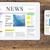 wiadomości · nagłówek · telefonu · komórkowego · online · informacji · mediów - zdjęcia stock © neirfy
