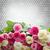 buquê · fresco · rosas · fronteira · rosa · branco - foto stock © neirfy