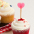 berry cupcake with heart stick stock photo © neirfy