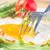 здорового · завтрак · помидоров · белый · деревянный · стол - Сток-фото © neirfy