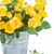 bouquet · fresche · rose · giallo · foglie · verdi · metal - foto d'archivio © neirfy