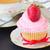 vers · aardbei · slagroom · dessert · roze · macro - stockfoto © neirfy