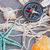 compass on fishing net with tag stock photo © neirfy