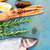 vers · zeevruchten · Blauw · oester · houten - stockfoto © neirfy