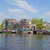 rivieroever · Amsterdam · holland · oude · huizen · rivier - stockfoto © neirfy
