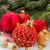 красный · Рождества · мяча · вечнозеленый · дерево · золото - Сток-фото © neirfy