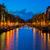 huizen · Amsterdam · Nederland · kanaal · lichten · nacht - stockfoto © neirfy