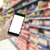 hand · moderne · smartphone · supermarkt · mobiele - stockfoto © neirfy
