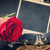 красную · розу · письме · старые · холст · конверт · шаблон - Сток-фото © neirfy