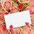 gyönyörű · rózsaszín · rózsák · ajándékkártya · szívek · friss - stock fotó © neirfy