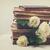flores · antigo · livros · elegante · buquê · rosa - foto stock © neirfy
