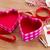 nyitva · üres · doboz · szív · alak · ajándék · valentin · nap - stock fotó © neirfy