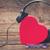 coração · notas · musicais · amor · piano · preto · jogar - foto stock © neirfy