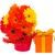 gerbera flowers in pot with gift box stock photo © neirfy