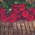 sötét · vörös · rózsák · asztal · fektet · fa · asztal · retro - stock fotó © neirfy