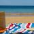 полотенце · корзины · соломы · сумку · пляж - Сток-фото © neirfy