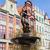 Isten · tenger · szobor · szökőkút · óváros · Gdansk - stock fotó © neirfy