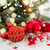 evergreen tree and red christmas decorations stock photo © neirfy