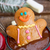 gingerbread · man · sorridente · botões · comida · sorrir - foto stock © neirfy