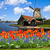 moulin · à · vent · tulipes · domaine · orange · holland - photo stock © neirfy