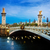 köprü · Paris · Fransa · şafak · seyahat · lamba - stok fotoğraf © neirfy