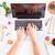 женский · workspace · Top · мнение · ноутбука · кофе - Сток-фото © neirfy