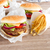 fresh hamburgers with french fries stock photo © neirfy