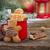 gyömbér · kenyér · férfiak · csoport · mézeskalács · ember · áll - stock fotó © neirfy